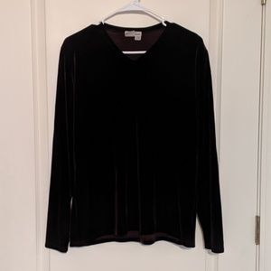 Eddie Bauer Velvet Long Sleeve Top